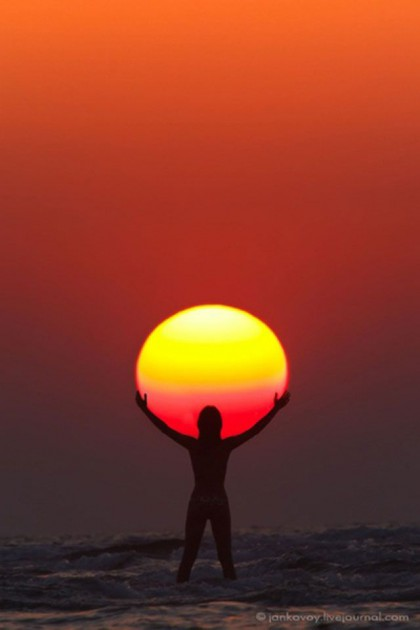 Human-sun image