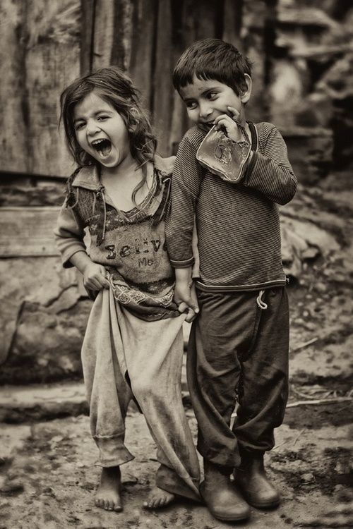 children laughing image